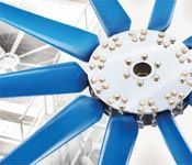 Low noise industrial axial fans ideally suited for commercial process cooling applications.