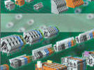 WAGO Modular terminal blocks allow for a variable number of poles on the PCB.